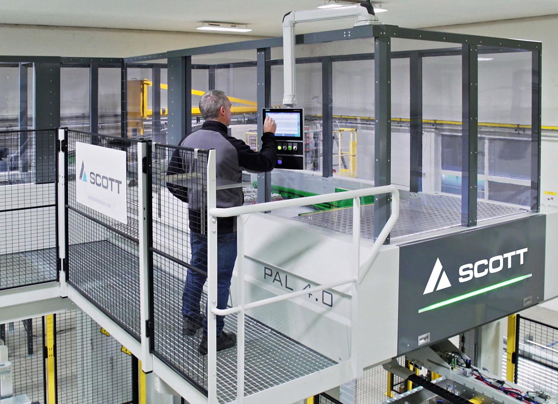 Konstrukce stroje zaručuje dokonalý přehled nad celým procesem paletizace